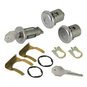 1966 1967 Cadillac 4-Door Models Ignition and Door Lock Set With Two Octagon Keys (11 Pieces) REPRODUCTION Free Shipping In The USA