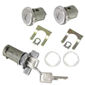 1982 1983 1984 1985 1986 1987 1988 1989 1990 1991 Cadillac Ignition and Door Lock Cylinder Set With Square Keys (11 Pieces) REPRODUCTION Free Shipping In The USA