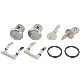 1965 Cadillac 4-Door Ignition and Door Locks (No Pawl) with Octagon Keys (9 Pieces) REPRODUCTION Free Shipping In The USA