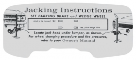 1962 Cadillac Jacking Instructions REPRODUCTION