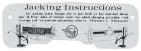 1965 Cadillac Jacking Instructions Decal REPRODUCTION