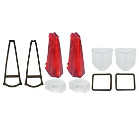 1969 Cadillac (EXCEPT Eldorado) Exterior Lens Set with Gaskets (10 Pieces) REPRODUCTION Free Shipping In The USA