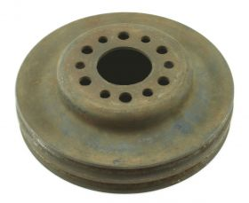 1957 Cadillac Harmonic Balancer Crankshaft Double Groove Pulley WITHOUT Air Conditioning USED Free Shipping In The USA