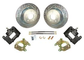 1959 1960 1961 1962 1963 1964 1965 1966 1967 1968 Cadillac Drilled and Slotted Rotor Big Brake Rear Disc Brake Conversion Kit (For Rims 19 Inches & Up) NEW