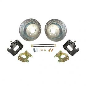 1949 1950 1951 1952 1953 1954 1955 1956 1957 1958 Cadillac Drilled and Slotted Rotor Big Brake Rear Disc Brake Conversion Kit (For Rims 19 Inches & Up) NEW