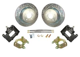 1961 1962 1963 1964 1965 1966 Cadillac 1967 1968 (EXCEPT Eldorado) Drilled and Slotted Rotor Rear Disc Brake Conversion Kit NEW