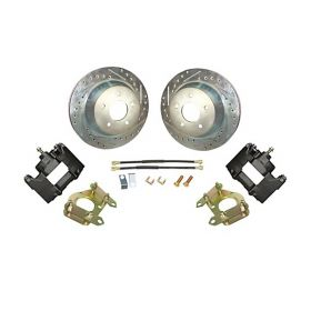 1969 1970 Cadillac (EXCEPT Eldorado) Drilled and Slotted Rotor Rear Disc Brake Conversion Kit NEW