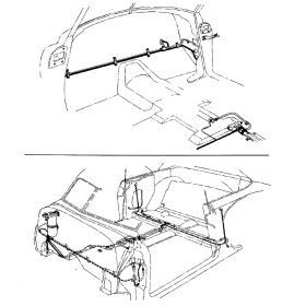 1947 1948 1949 Cadillac Series 62 Convertibles Hydraulic Power Window and Convertible Top Lines Set (25 Pieces) Stainless Steel or Original Equipment Design REPRODUCTION Free Shipping In The USA