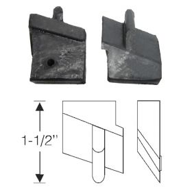 1941 Cadillac Series 62 2-Door Convertible Roof Rail Rubber Fillers 1 Pair REPRODUCTION Free Shipping In The USA