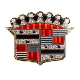 1954 Cadillac Series 62 (EXCEPT Eldorado) Trunk Crest Emblem With Bezel REPRODUCTION Free Shipping In The USA
