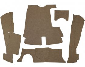 1956 Cadillac Series 62 4-Door Sedan Tweed Brown Trunk Mat Set 5 Pieces REPRODUCTION Free Shipping In The USA