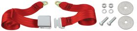 Cadillac Seat Belt Lap Style Red REPRODUCTION Free Shipping In The USA