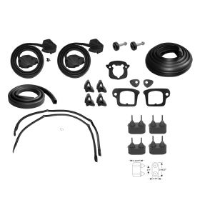1975 Cadillac Calais and Deville 2-Door Hardtop Advanced Rubber Weatherstrip Kit (21 Pieces) REPRODUCTION Free Shipping In The USA