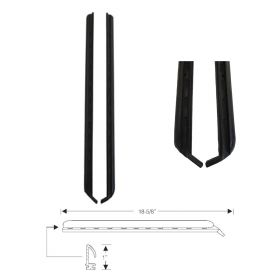 1971 1972 1973 Cadillac Calais and Deville 2-Door Hardtop Side Window Leading Edge Weatherstrips 1 Pair REPRODUCTION Free Shipping In The USA