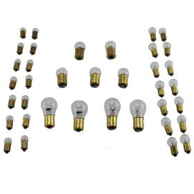 1947 1948 1949 1950 1951 1952 Cadillac 6-Volt Light Bulb Replacement Kit (WITHOUT Fog Bulbs) (25 Pieces) REPRODUCTION Free Shipping In The USA