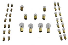 1954 1955 1956 Cadillac Light Bulb Replacement Kit 32 Pieces (Without Fog Bulbs) REPRODUCTION Free Shipping In The USA