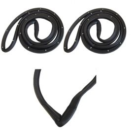 1976 1977 1978 1979 Cadillac Seville Molded Back Door Rubber Weatherstrips 1 Pair REPRODUCTION Free Shipping In The USA