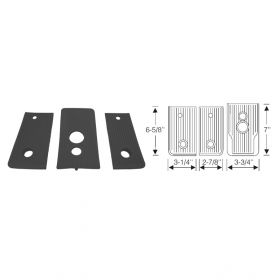 1941 Cadillac (See Details) Black Rubber Manual Floorplate Kit 3 Pieces REPRODUCTION Free Shipping In The USA