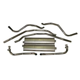 1978 1979 1980 1981 1982 1983 1984 1985 Cadillac Deville and Fleetwood Brougham Diesel Stainless Steel Catback Exhaust System REPRODUCTION