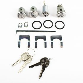 1961 1962 Cadillac Door, Glove Box, And Trunk Locks With Round Keys Set (17 Pieces) REPRODUCTION Free Shipping In The USA