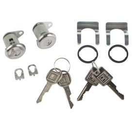 1955 1956 Cadillac 2-Door Models Door Locks (Short Cylinder With Flat Pawl) With Keys Set (12 Pieces) REPRODUCTION Free Shipping In The USA