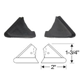 1942 1946 1947 Cadillac Series 62 2-Door Convertible Roof Rail Rubber Fillers 1 Pair REPRODUCTION Free Shipping In The USA