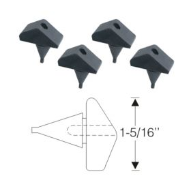 1950 1951 1952 1953 1954 1955 1956 1957 1958 1959 1960 Cadillac Fender to Hood Rubber Bumper Set (4 Pieces) REPRODUCTION Free Shipping In The USA