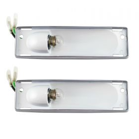 1959 1960 Cadillac (See Details) Interior Dome Light Lens Bezel Housing 1 Pair REPRODUCTION Free Shipping In The USA