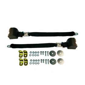 Cadillac Retractable Bucket Seat Belt Lap Style With Push Button 1 Pair (See Details for Colors) REPRODUCTION Free Shipping In The USA