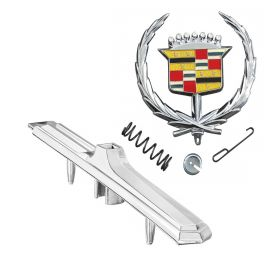 1973 Cadillac Fleetwood Brougham Hood Emblem and Base Set REPRODUCTION Free Shipping In The USA