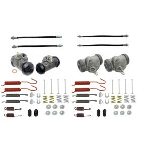 1960 Cadillac (EXCEPT Commercial Chassis) Standard Drum Brake Kit (60 Pieces) REPRODUCTION Free Shipping In The USA