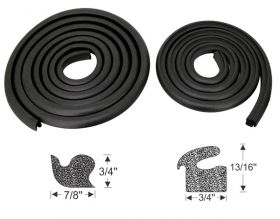1949 1950 1951 1952 1953 Cadillac Trunk Rubber Weatherstrip (WITHOUT Corners) (2 Pieces) REPRODUCTION Free Shipping In The USA