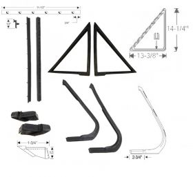 1961 Cadillac 4-Door 6-Window Models (See Details) Vent Window Kit (8 Pieces) REPRODUCTION Free Shipping In The USA