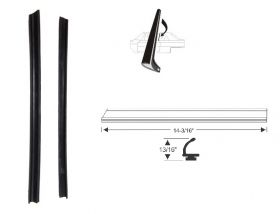1962 Cadillac 2-Door Hardtop Side Window Vertical Leading Edge Weatherstrips 1 Pair REPRODUCTION Free Shipping In The USA