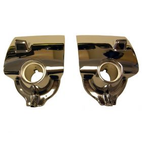 1954 Cadillac Windshield Wiper Chrome Escutcheons 1 Pair REPRODUCTION Free Shipping In The USA