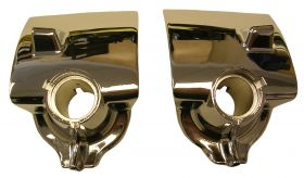 1955 1956 Cadillac Windshield Wiper Chrome Escutcheons 1 Pair REPRODUCTION Free Shipping In The USA